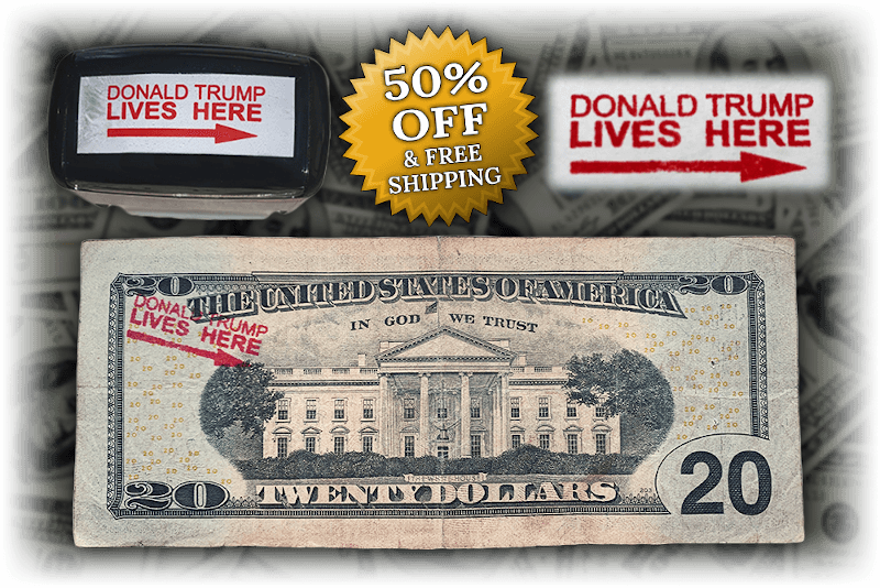 Donald Trump Lives Here Stamp