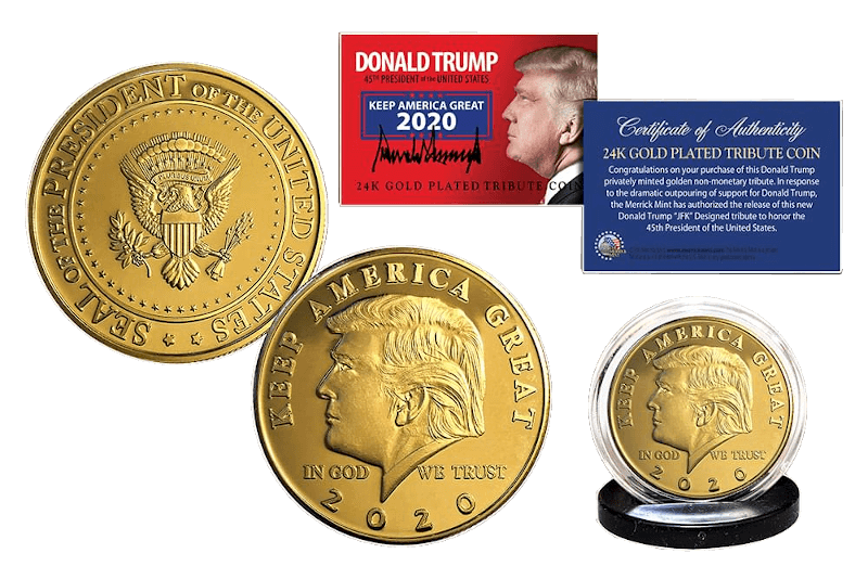 Trump 24K Gold Plated Tribute Coin