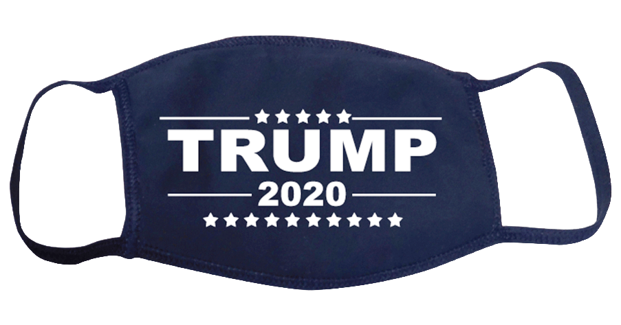 Trump 2020 Face Mask Navy Blue