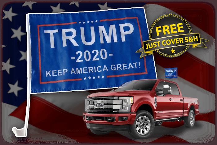 Trump 2020 Car & Truck Flag