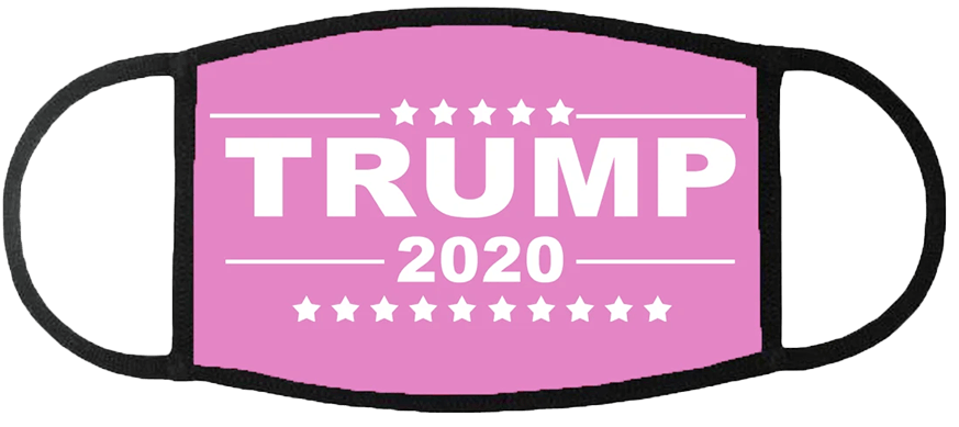 Trump 2020 Pink Face Mask