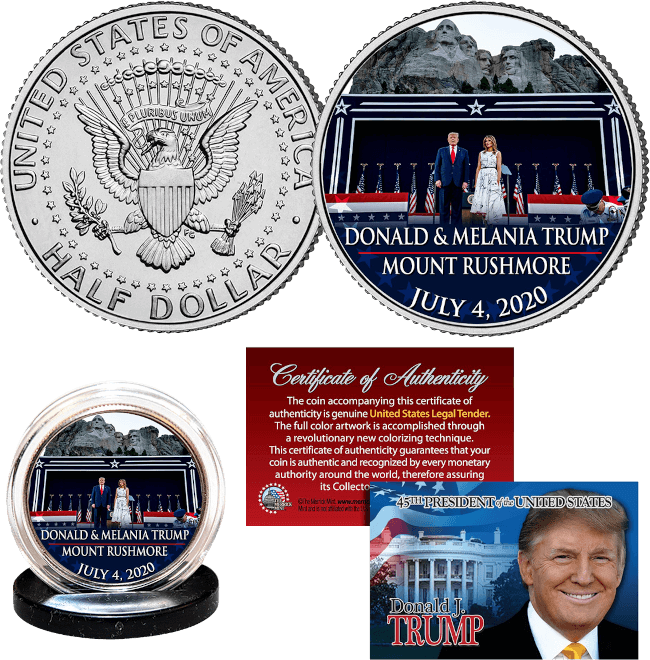 Free Trump Mt. Rushmore Coin