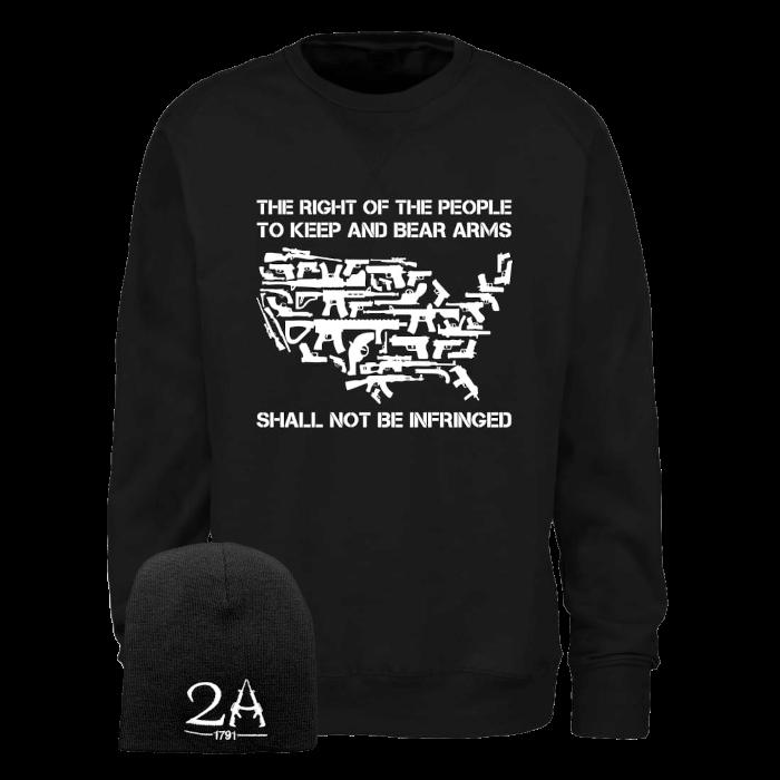 2a sweatshirt & beanie black